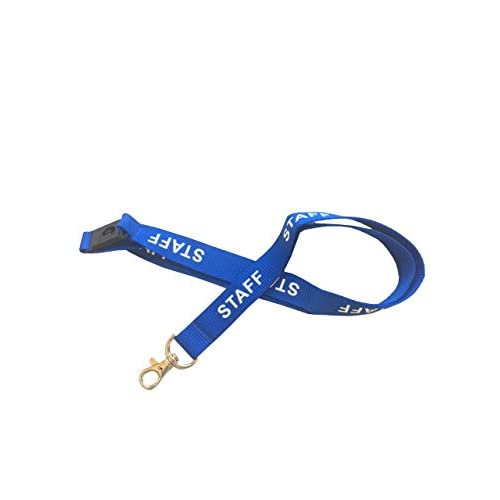 Kestronics® Blue Staff 20mm Lanyard with Safety Break away and Metal clip