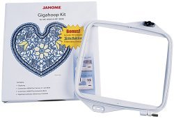 (Janome Embroidery Machine Giga Hoop Kit and Software)