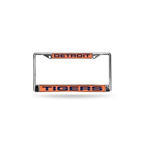 Rico Detroit Tigers Orange MLB Chrome Metal Laser Cut License Plate ()