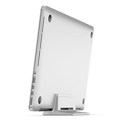 UPPERCASE KRADL Pro Small Profile Aluminum Vertical Stand for Retina MacBook Pro 13'' or 15'' (2012 to 2015 Releases), Silver/White by UPPERCASE (Image #4)
