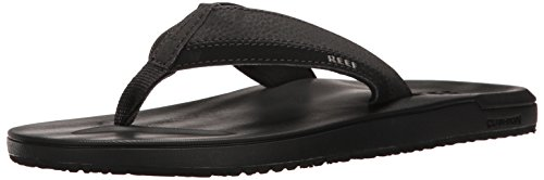 Reef Men's Contoured Cushion Flip-Flop, Black, 13 M US