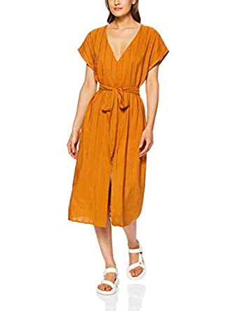THIRD FORM Women's Tied in Front Dress, Copper, X-Small