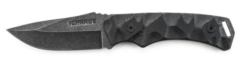 Schrade SCHF14 Full Tang Drop Point Fixed Blade G-10 Handle