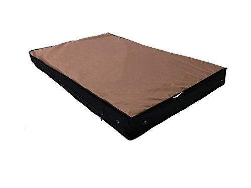 XXL Large Premium COOL BLUE Memory Foam Pad Dog Bed with Heavy Duty Tough and Durable External OXFORD fabric Waterproof Cover and Inner Liner Case for Small and Large Dogs (54x37 INCHES, BROWN)
