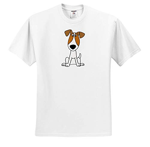 All Smiles Art - Pets - Cute Funny Unique Jack Russell Terrier Puppy Dog Cartoon - T-Shirts - Adult T-Shirt Small (ts_291126_1)