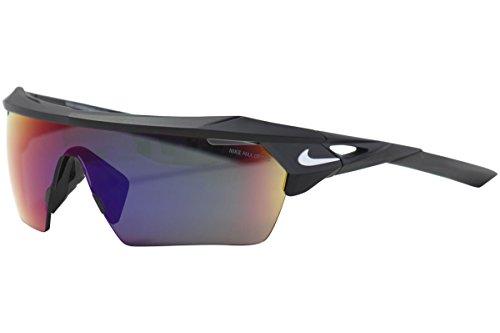 Nike EV1027-016 Hyperforce Elite R Sunglasses (Frame Green with ML Infrared Lens), Matte Black/White