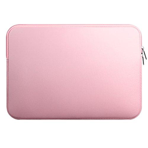 YiJee Fundas para Portatil Funda Blanda Bolso Sleeve para Ordenador Portátil 15.6 Pulgada Pink