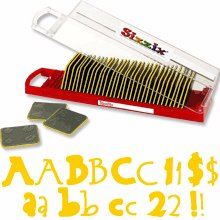 RETIRED Sizzix Sizzlits Bounce Alphabet Set New in package, 35 dies (Sizzlit Alphabet Set)