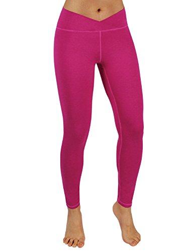 - ODODOS Power Flex Yoga Pants Tummy Control Workout Non See-Through Leggings with Pocket,Fuchsia,X-Large