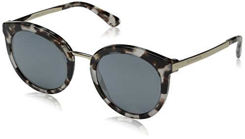 D&G Dolce & Gabbana Women's 0DG4268 Square Sunglasses, Cube Havana/Fog Grey/Black, 52 - D And G Sunglasses Amazon