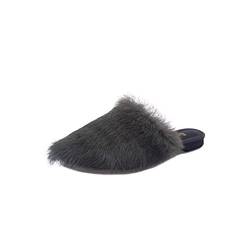 Soft Women' Donna Da 38 Baotou Flat Casual Eu Fluffy Slippers 's Sed Pantofole XSqxFwAvC