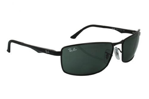 Ray-Ban Men's RB3498 Sunglasses Black / Green - Rb3498
