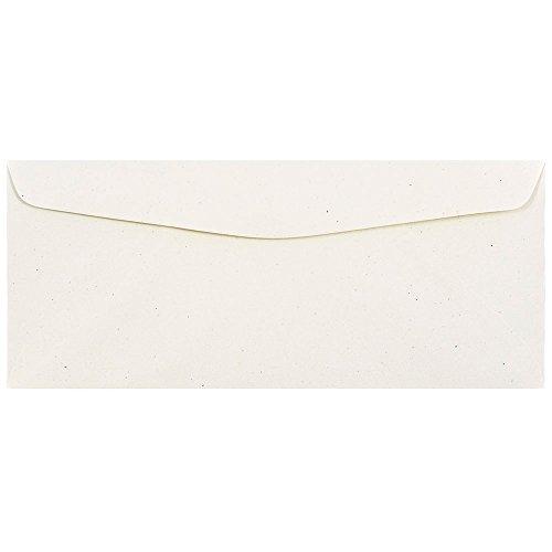JAM PAPER #10 Recycled Invitation Envelopes - 4 1/8 x 9 1/2 - Milkweed Genesis - Bulk 500/Box