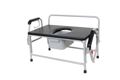 Drive Medical Super Heavy Duty Bariatric Drop Arm Commode by Drive Medical