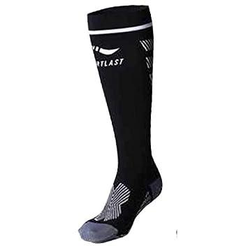 Sportlast Pro Calcetines de compresión, Negro/Blanco, L: Amazon.es: Deportes y aire libre