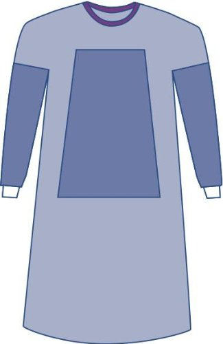 Medline DYNJP2101 Sterile Fabric-Reinforced Eclipse Surgical Gowns, Large, Blue (Pack of 30)