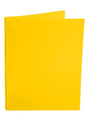 Ultra Pro - 10 Pack, YELLOW 2-Pocket Folders with 3-Prong Fastener