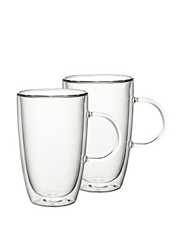 VILLEROY & BOCH ARTESANO HOT BEVERAGES Glass cup - extra large - set of 2 (Villeroy Boch And Artesano)