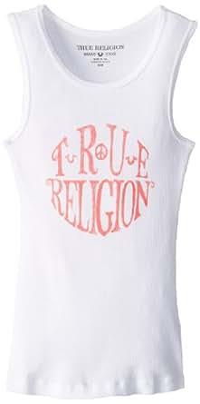 True Religion Kids Big Girls' Circle Tank, Optic White, Medium