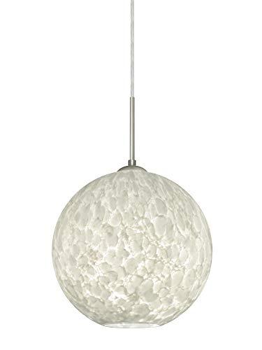 Besa Lighting 1JT-COCO1019-SN Coco 10 - One Light Cord Pendant, Satin Nickel Finish with Carrera Glass