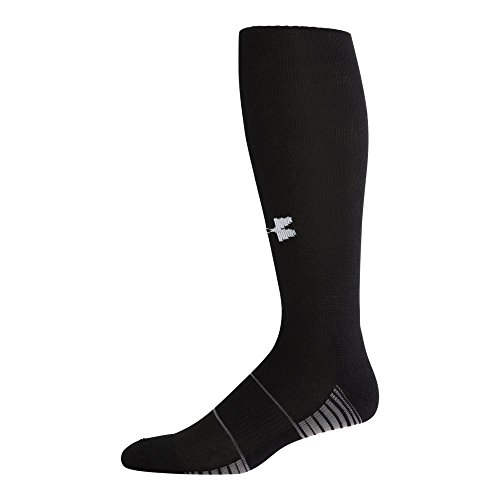 Under Armour Team Over The Calf Socks, 1-Pair, Black/White, Shoe Size: 8-12