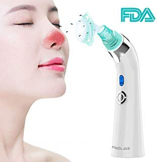 imolake Blackhead Remover Pore Vacuum -2019 Updated Electric skin Pore Cleaner Removal Extractor Tool Device, FDA-Approved Comedo Suction Machine with LED Display,Facial Skin Treatment for Women Men