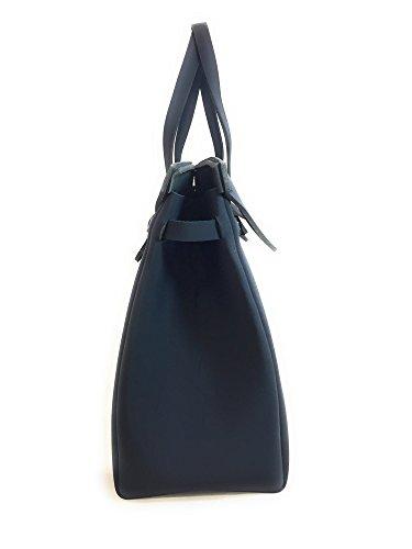 Shopping bag in neoprene LA FILLE DES FLEURS BORSA big jackie BLACK 36x42x17 �?