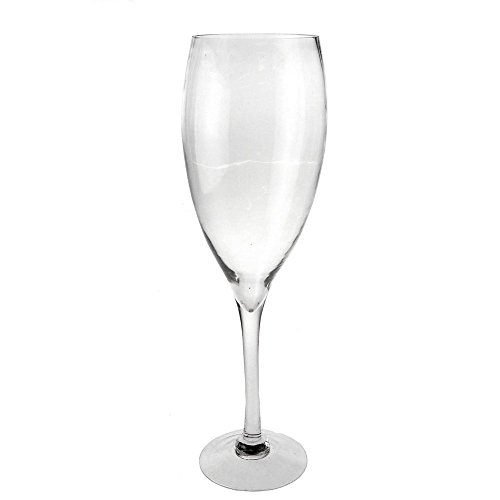 Clear Champagne Wine Glass Vase, Height 20-Inch, 6-Pack, CASE BULK