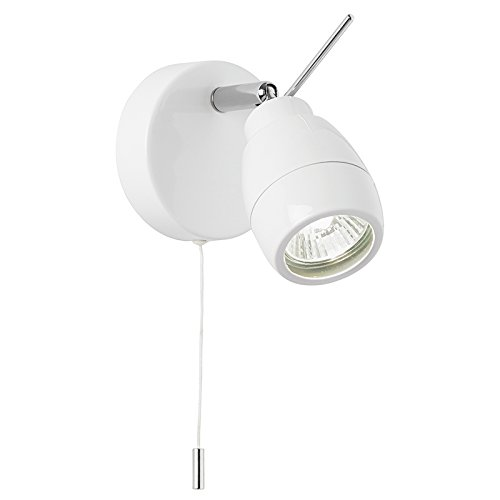Endon single bathroom spot wall light fitting el 20093 white ip44
