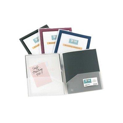 amazon com avery flexi view two pocket folder 47857 business