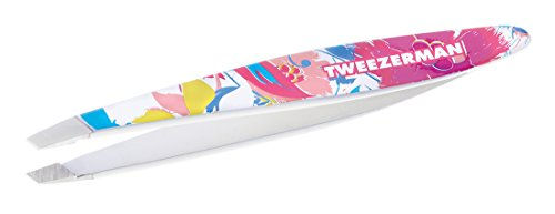 (Tweezerman Mini Slant Tweezer Floral Sorbet Pattern, 0.5984 Ounce)