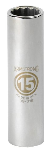 UPC 781412393262, Armstrong 39-326 26mm, 12 Point, 1/2-Inch Drive Metric Deep Socket