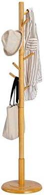 コートスタンドコートラックソリッドウッドランディングベッドルームファッションクリエイティブリビングルームコンビネーションハンガー(色:レモンイエロー)