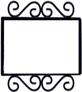 Fine Crafts Imports Wrought Iron House Number Frame Desert 2