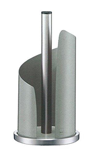 Kela 11203 Küchenrollenhalter, 15 cm Durchmesser, Edelstahl/Metall, Hellgrau glänzend, Stella