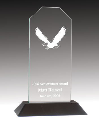 QuickTrophy Jade Acrylic Eagle Award