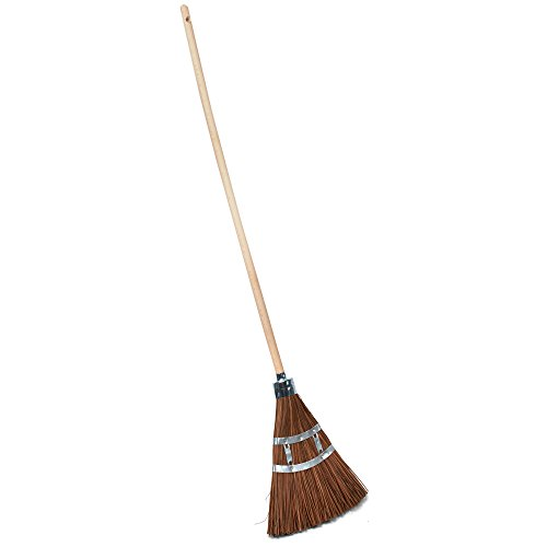 Kings County Tools Long Lasting Garden Broom- Water and fire Resistant Piassava bristles ()
