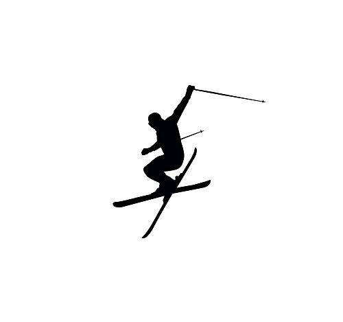 (Wall Decal Vinyl Sticker Downhill Skiing Skier Ski Snow Freestyle Jumping Extreme Sports Wall Decals Murals Winter Gift Kids Room Decor Z862)
