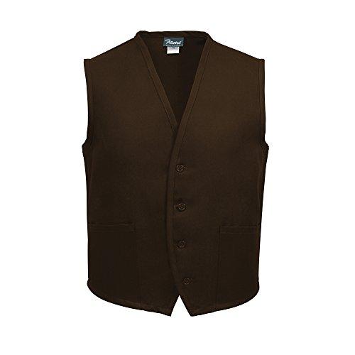 Fame Adult 2 Pocket Vest (Brown - Large) V65-83268 ()