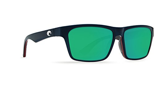 Costa Del Mar HNO104OGMGLP Hinano Sunglass, Shiny Navy/Red/Gray Green - Costa Hinano