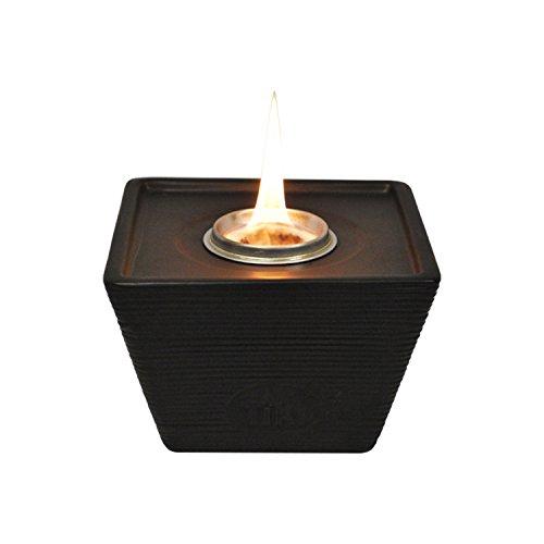Tiki 6' Rough Luxe Ceramic Clean Burn Tabletop Torch, Metal/Black