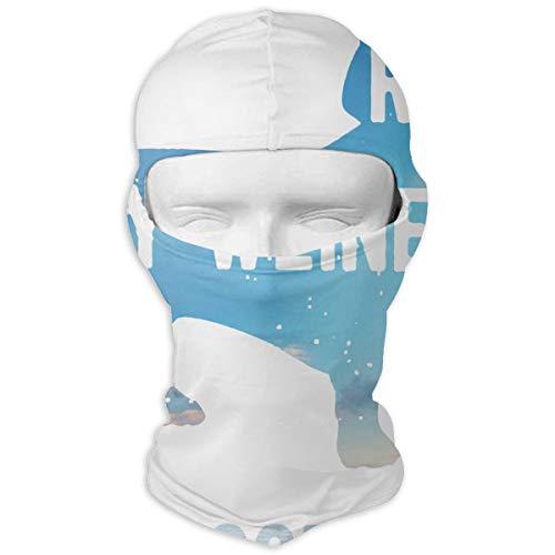 Bellamy Blue Rub My Weiner Dog Face Ski Mask - Breathable Lightweight Adjustable Full Face Ski Mask for Wind Dust Pollution Rain Sun Protection
