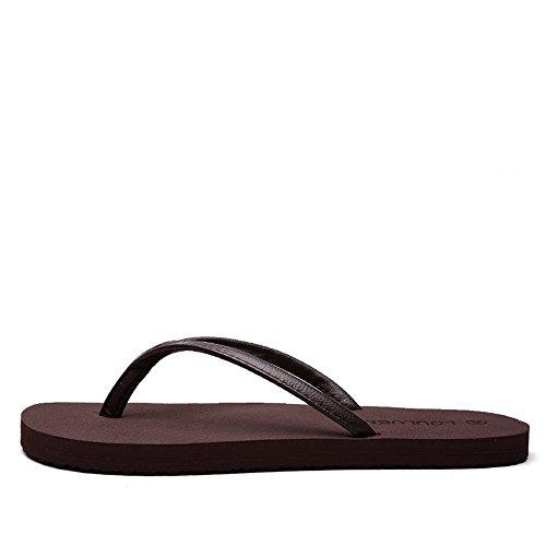 38 Nero flop donna 2018 Sandali minimalista shoes e da Uomo Dimensione uomo da sandali da Xujw EU per Color spiaggia Flip Marrone da antiscivolo CH1wqnx