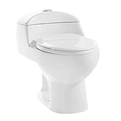 Swiss Madison SM-1T803 Chateau Elongated Toilet Dual Flush 0.8/1.28 Gpf (Soft Closing Quick Release Seat Included)