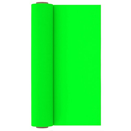 Neon Green Heat Transfer Vinyl Roll Heat Press Iron on HTV for T-Shirts 12 Inches x 10 Feet
