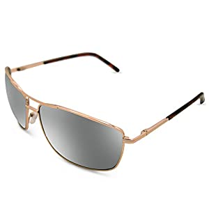 In Style Eyes Mirrored Bifocal Sunglass Readers/Gold 1.00