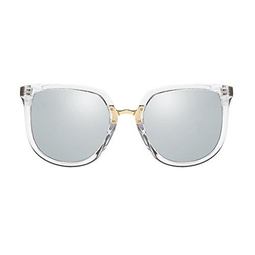 YUBIN Sunglasses Female Tide Star Models Round Face Network Red Sunglasses Polarized Light Glasses Anti-UV Sunglasses (Color : A) (Red Sonnenbrillen-gläser)