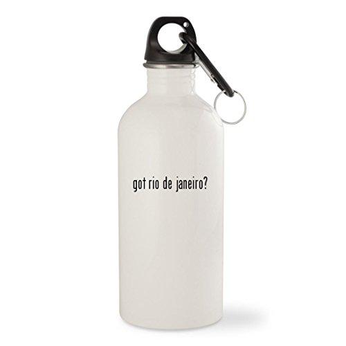 got rio de janeiro? - White 20oz Stainless Steel Water Bottle with (Rio Carnival Samba Costumes)