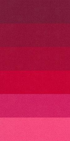 Sue Spargo 1/64 Cuts of Merino Wool Fabric, Pack of Six Different Colors - Reds