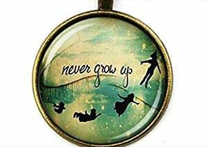 891f124f004a Amazon.com  Never Grow up Quote Necklace